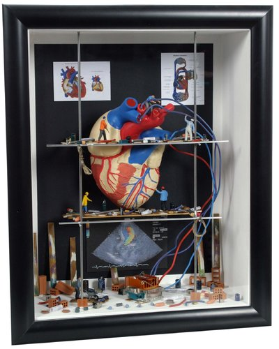 Shadow box big Heart