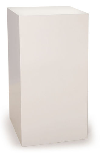Free standing pedestal small white WITHOUT glass bonnet