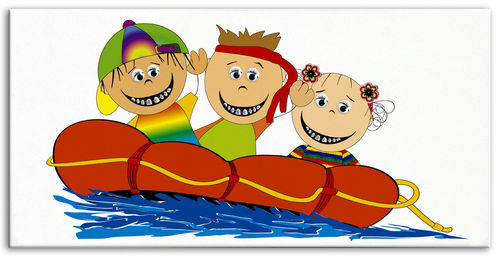 Happy Brackets  Kids boat big Canvas