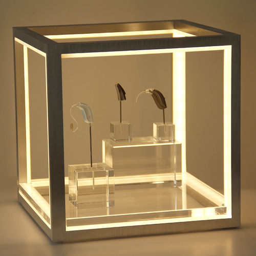 LED cube set-2 with power supply with 1 plates with content