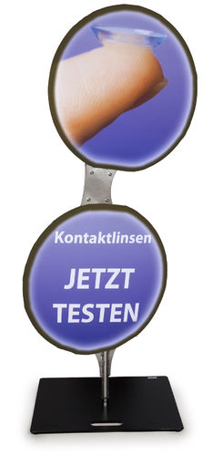 LED- Round-Flag-BRILLE-Outdoor- 'Kontaktlinsen' MIT Akku