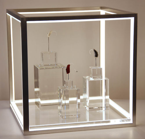 LED cube-2 set- with power supply with 1 plates with content